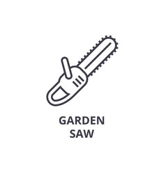garden saw line icon outline sign linear symbol vector image vector image