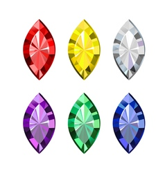 Gems vector image vector image