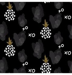 Glitter scandinavian xoxo black ornament vector