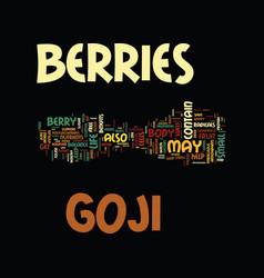 Goji berries text background word cloud concept vector