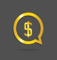 Gold dollar sign vector