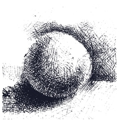 Hand drawn volumetric ball doodle cartoon style vector
