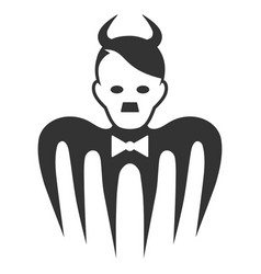 Hitler spectre devil flat icon vector