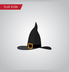 Isolated wizard hat flat icon witch cap vector