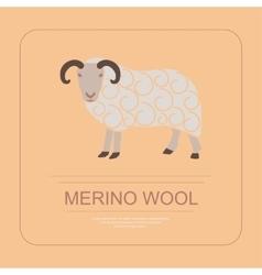 Logotype of merino wool vector