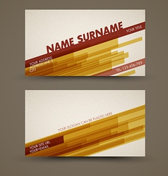 old-style retro vintage business card template vector image