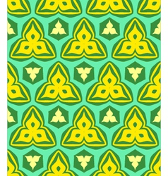 psychedelic abstract colorful yellow green vector image
