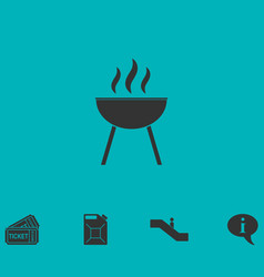 Roaster bbq icon flat vector