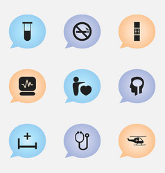 Set of 9 editable care icons includes symbols vector