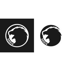 Silhouette of an eagle monochrome logo vector image vector image