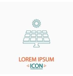Solar energy computer symbol vector image vector image