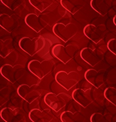 Sparkling hearts seamless vector image