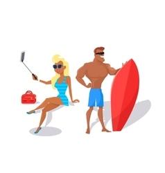 Summer fun and entertainments vector