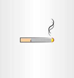 Tobacco cigarette icon symbol vector