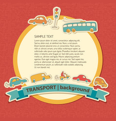 Transportation colored background vector
