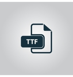 TTF extension text file type icon vector image vector image