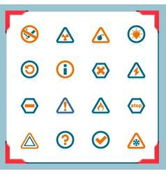 warning signs - in a frame series vector image