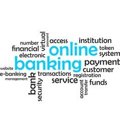 Word cloud online banking vector