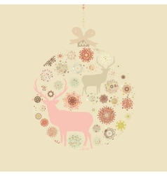 Christmas snowflakes bauble card vector image