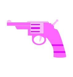Revolver symbol icon on white vector