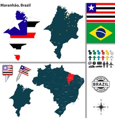 Map of Maranhao vector image