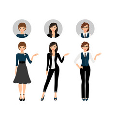 adult business women set vector image