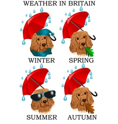 Weather in britain vector