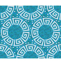Seamless mosaic pattern - blue ceramic tile - clas vector