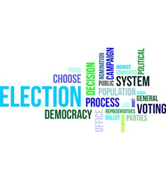 Word cloud election vector