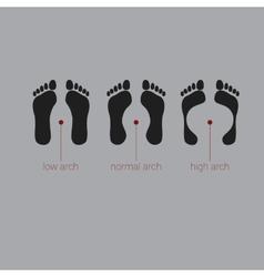 version footprint symbols Combinations vector image