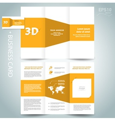 3d dimensional design brochure vector image vector image