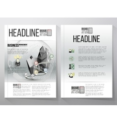 Business templates brochure flyer or vector