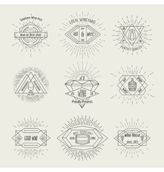 Winemaking and winehouse label or emblem set in vector