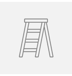 Stepladder line icon vector