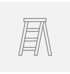 Stepladder line icon vector image