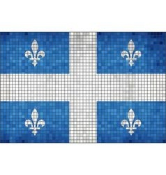 Flag of quebec vector