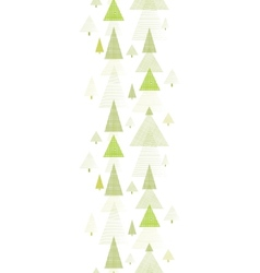Abstract pine tree forest vertical seamless vector image