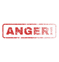 Anger exclamation rubber stamp vector