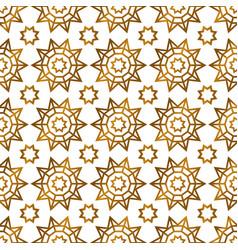 Arabic islamic golden seamless pattern vector