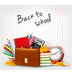background with school supplies vector image vector image