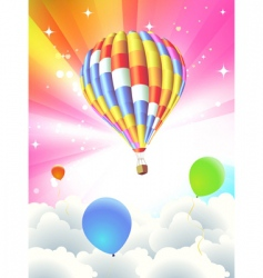 Balloon abstract background vector