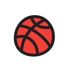 Basketball doodle icon vector