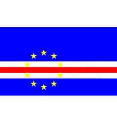 cape verde flag vector image vector image