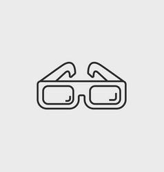 classic cinema glasses vector image