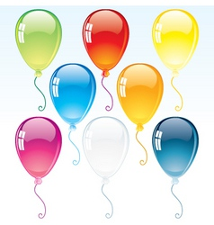 colorful glossy helium balloon vector image vector image