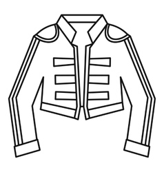 Costume of toreador icon outline style vector