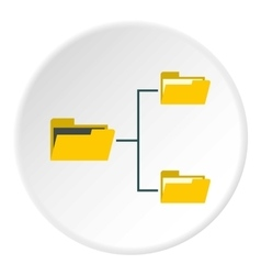 File system on computer icon flat style vector