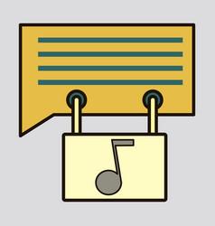 Flat voice mail icon speaker symbol audio message vector