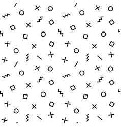 geometric pattern with elements in black vector image