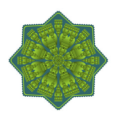 Green mandala for energy and vitality obtaining vector